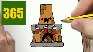 HOW TO DRAW A CHIMNEY CUTE, Easy step by step drawing lessons for kids