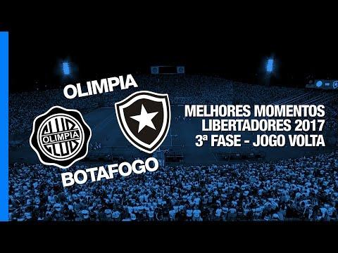 Melhores Momentos - Olimpia 1 x 0 Botafogo - Libertadores - 22/02/2017