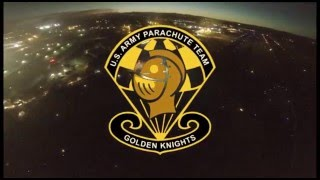 "US Army ""Golden Knights"" Night Sky Dive"