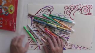Уроки рисования со штабило  Фломастеры  Сказочный домик