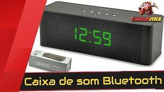 Caixa de som Bluetooth com relógio JY-28C