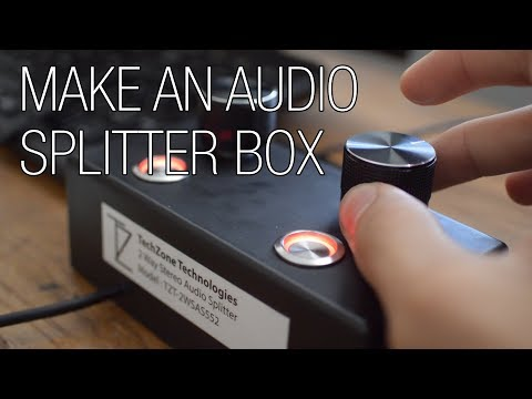 build your own audio splitter box with volume control youtube Two-Way Headphone Jack