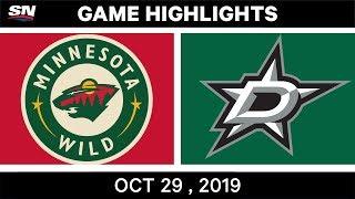 NHL Highlights   Wild vs. Stars – Oct. 29, 2019