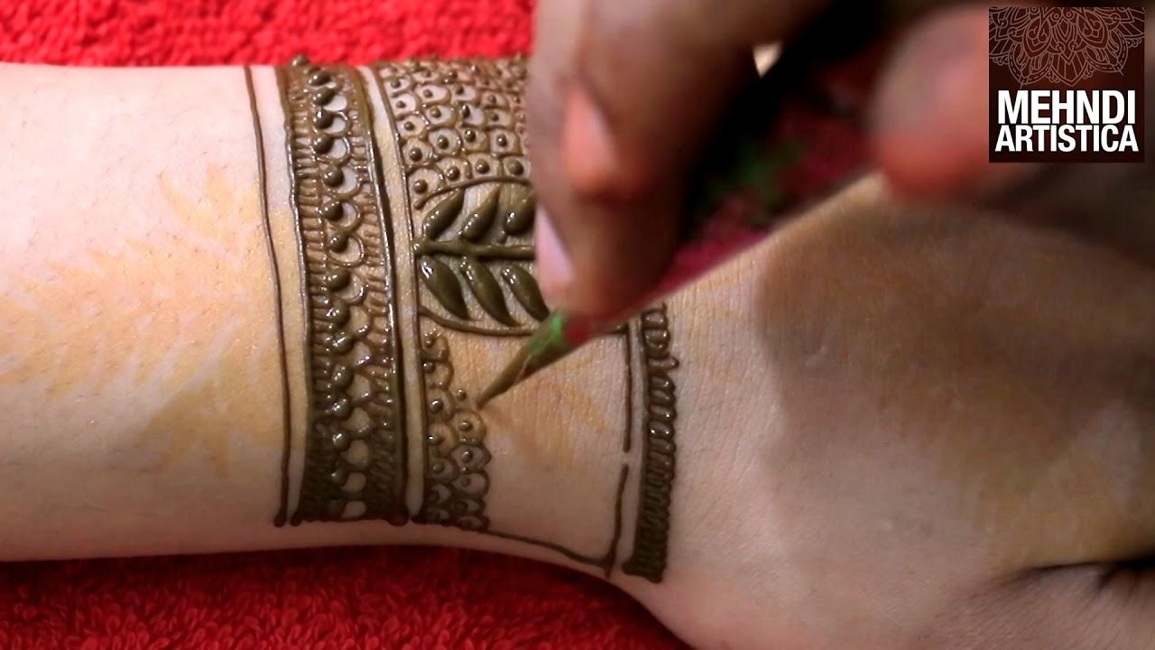 43 Henna Wrist Tattoos Design: Wrist Henna Mehndi Tattoo For Modern Brides