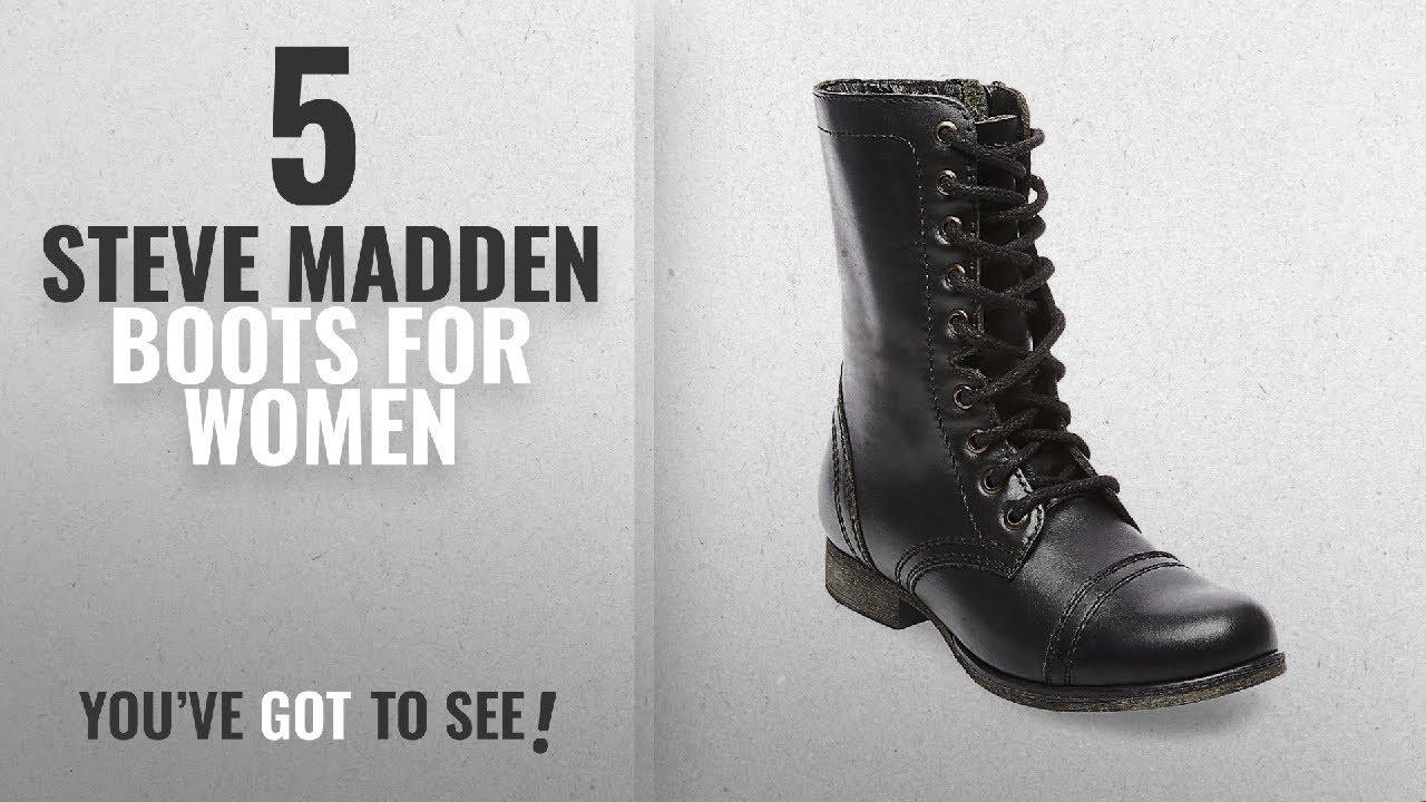 afff206de61 Top 5 Steve Madden Boots For Women  2018   Steve Madden Women s Troopa  Lace-Up Boot