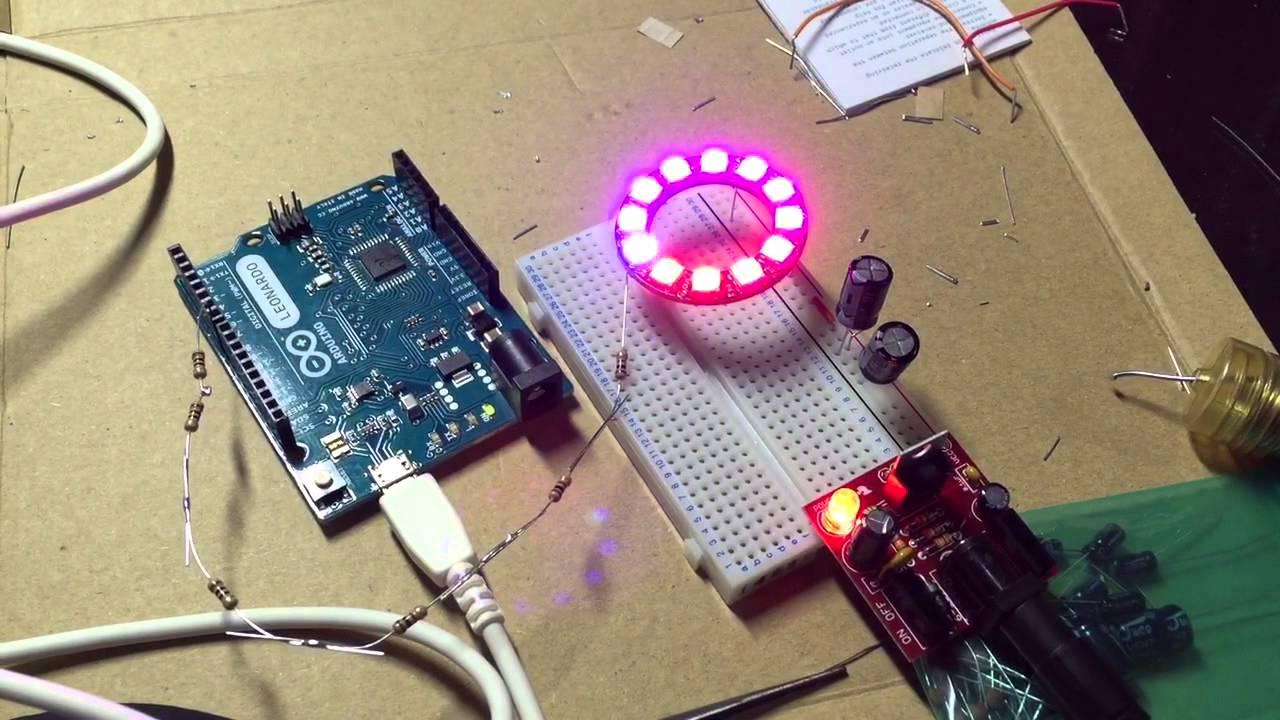 Neopixel ring led with arduino leonardo youtube