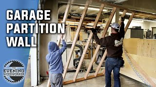 You Need a Partition Wall in Your Shop! | Evening Woodworker