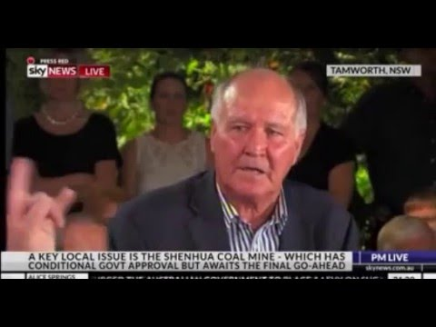 Is Tony Windsor FOR The  Shenhua Mine?