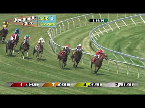 video thumbnail for MONMOUTH PARK 08-22-20 RACE 2
