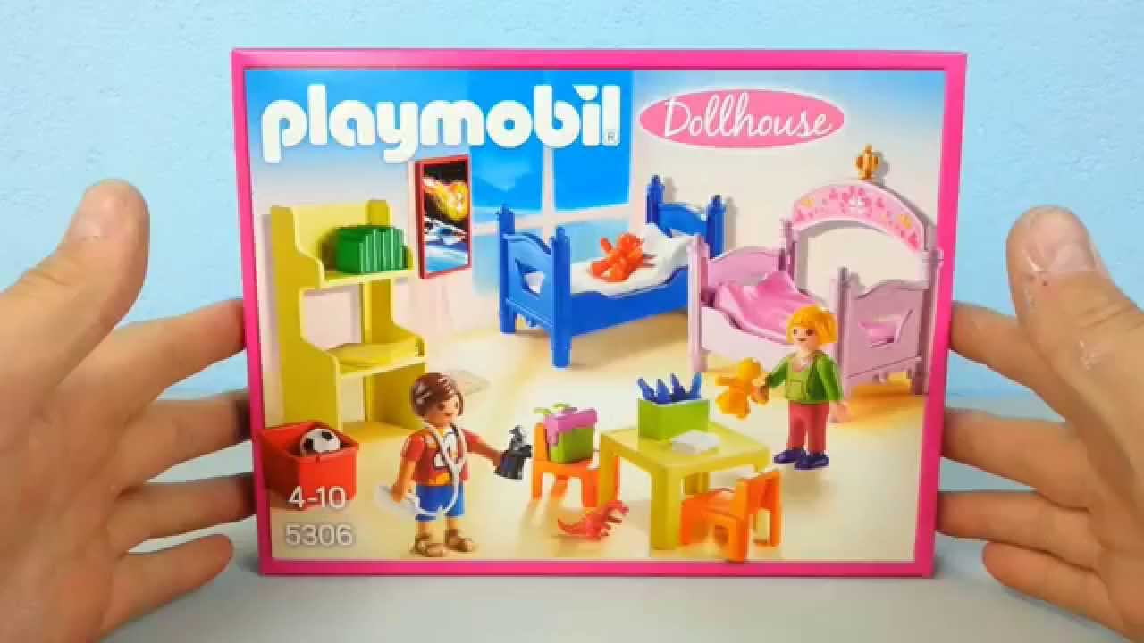 Buntes kinderzimmer 5306 auspacken playmobil puppenhaus for Kinderzimmer playmobil