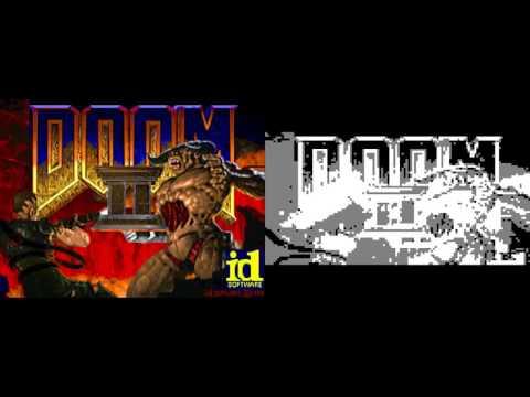 Doom 2 in 128x64 3 colors