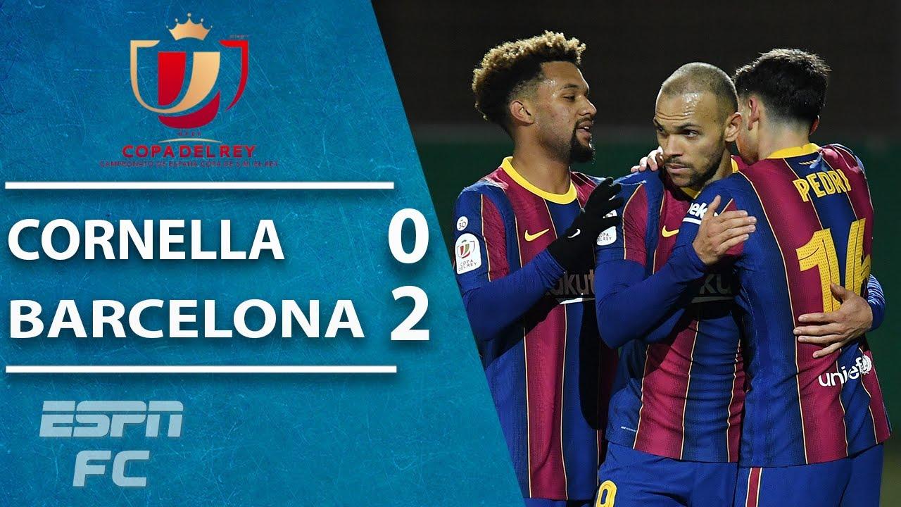 Barcelona advance in Copa del Rey vs. Cornella, but need extra ...