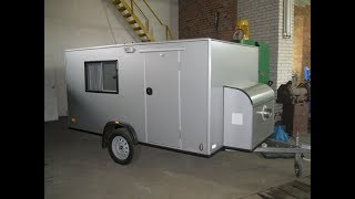 Build a camper in the garage. Handmade travel trailer camper