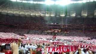 Polska - Serbia hymn Polski stadion Narodowy (a cappella) 30.08.2014