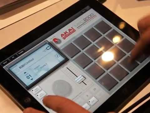 uok icon namm 2012 akai mpc fly ipad usb drum machine beat making youtube. Black Bedroom Furniture Sets. Home Design Ideas