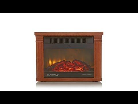 Heat Surge Mini Glo Infrared Led Fireplace Heater Youtube