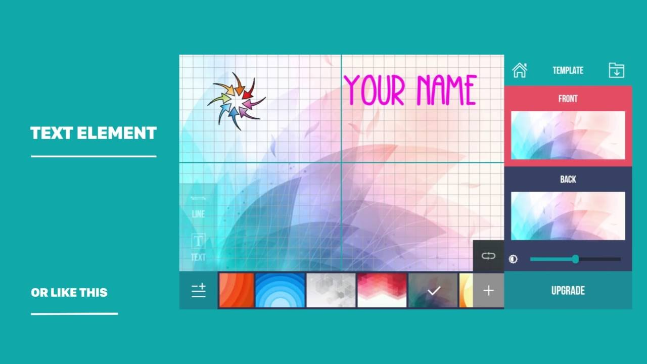 Business card maker creator how to use youtube business card maker creator how to use reheart Image collections