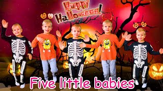 Five little pumpkins   Halloween Song   Nursery Rhymes for kids with Dima Family Show