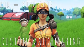 🔴 (NAE/NAW) FORTNITE CUSTOM MATCHMAKING WIN - TU CÓDIGO PS4, XBOX, PC, MOBILE, SWITCH