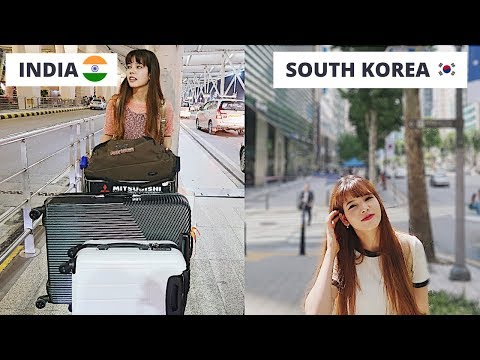 Moving to South Korea🇰🇷 ( New Delhi to Seoul)   Come with me