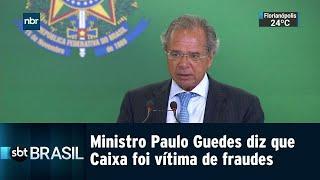 Ministro Paulo Guedes diz que Caixa foi vítima de fraudes | SBT Brasil (07/01/19)