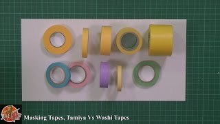 Masking Tapes, Tamiya Vs Washi Tapes review
