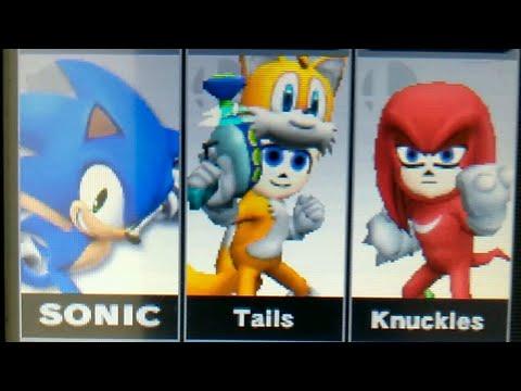 Super smash bros battle Sonic vs Knuckles vs Tails On 3DS |