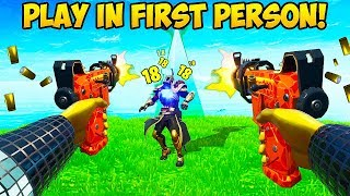 *NEW TRICK* PLAY IN 1ST PERSON!! - Fortnite Funny Fails and WTF Moments! #684