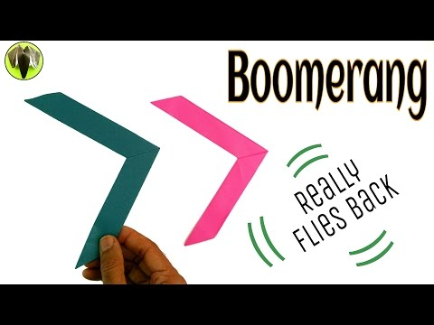 Boomerang - DIY Origami Tutorial by Paper Folds ❤️
