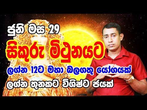 Lagna palapala 2019.04.21 | Daily horoscope | Rukshan Jayasekara | Sinhala Astrology from YouTube · Duration:  12 minutes 55 seconds