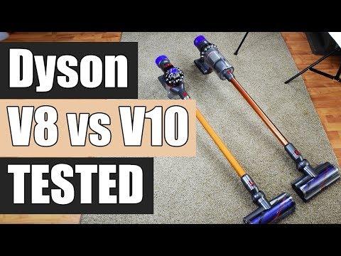 Dyson V8 vs Dyson V10 - Detailed Tests and Comparison