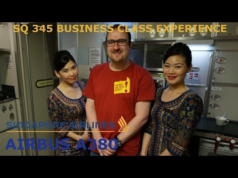 Singapore Airlines Business Class - Airbus A380 - ZRH-SIN -Welcome to pampered Luxury!