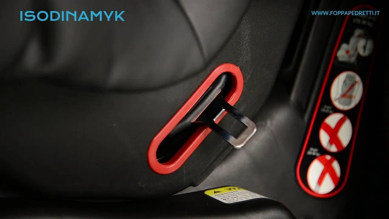 d3c6eeb0c2ca6 Foppapedretti  seggiolino auto Isodinamyk fissaggio in auto Gruppo 3 (da 22  a 36 kg) - YouTube