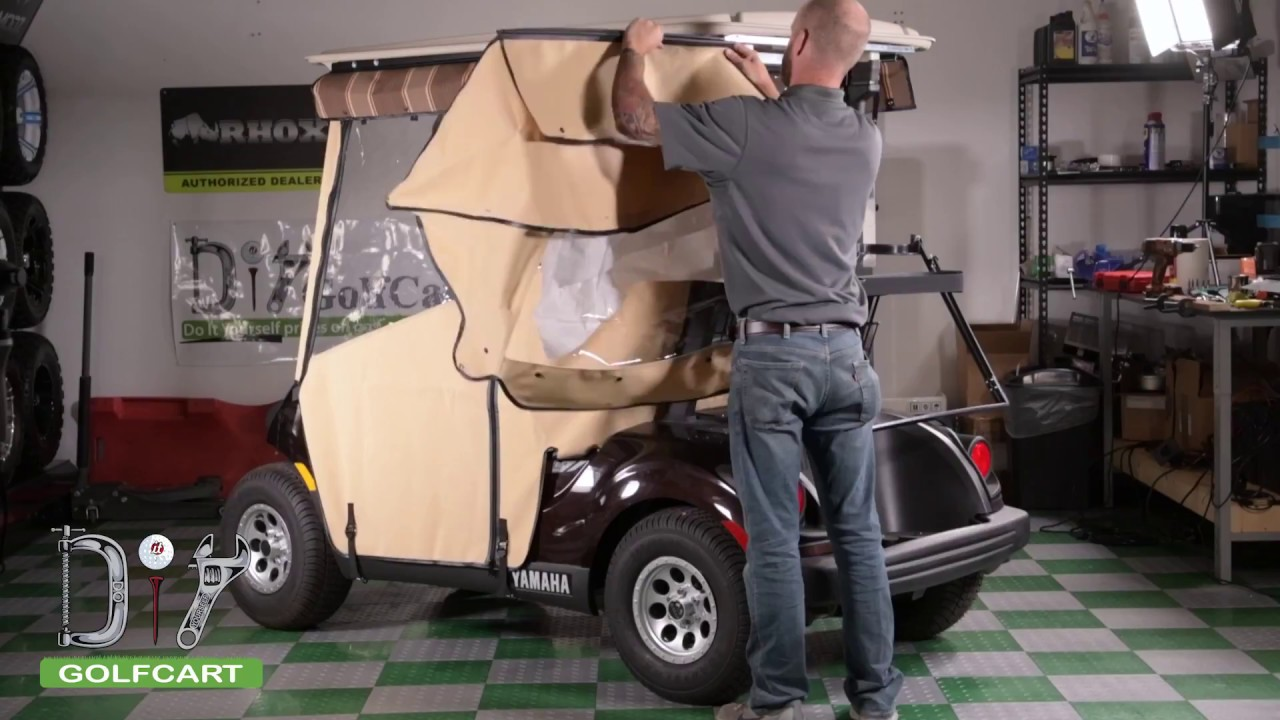 How to Install a Pro Touring Sunbrella Enclosure on a Yamaha G29 Drive 2  Golf Cart