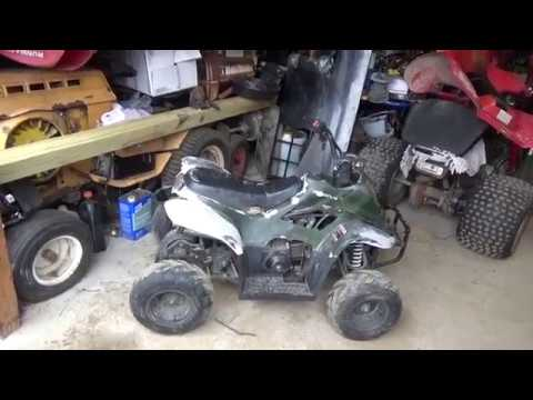 $50 Jonway 110cc ATV, stale gas, damaged wire harness, Intro video