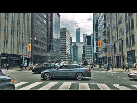 Driving Downtown - Toronto's University Avenue 4K - Canada