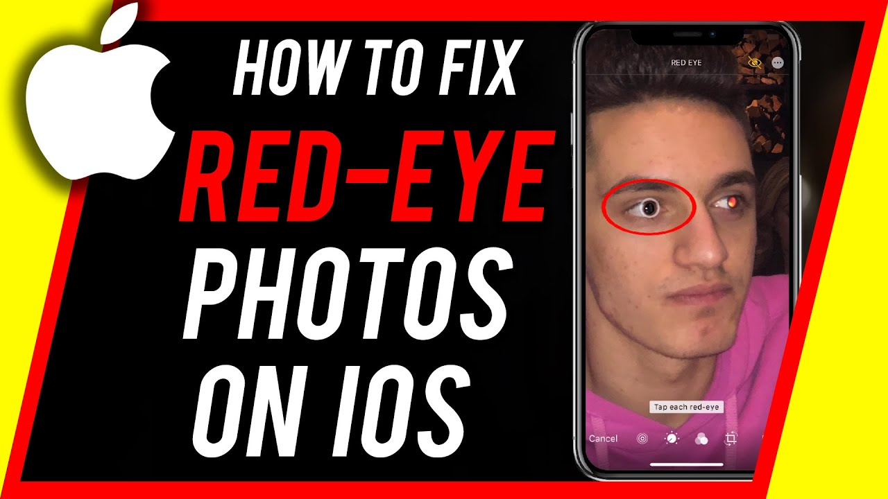 Fix red eye on iphone