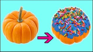 PUMPKIN into a DONUT!? - DIY Halloween Decorations & Crafts 2017