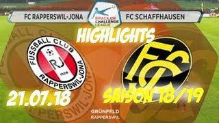 Highlights: Fc Rapperswil - Jona vs Fc Schaffhausen (21.07.18)