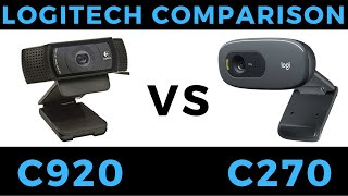 Logitech C920 vs C270 Webcam Review & Comparison - Video and Mic Test
