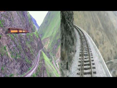 Train moving on the world's most extreme railways, Ecuador 2k18   shock wave