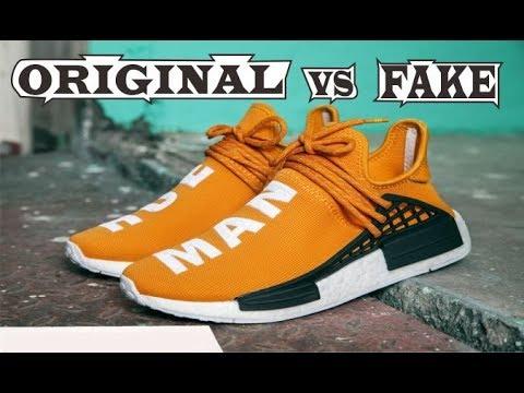 1297775e99fab Adidas X Pharrell Williams NMD Human Race Orange Original   Fake