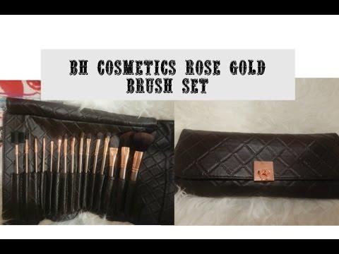 0bf1e76fdb606 BH Cosmetics Rose Gold Brush Set review - YouTube