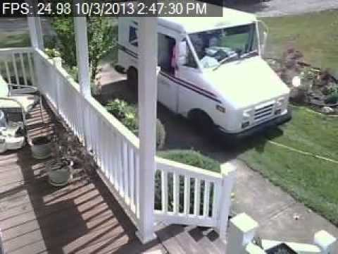 USPS Worker Drives Onto Customer's Front Lawn To Deliver Package