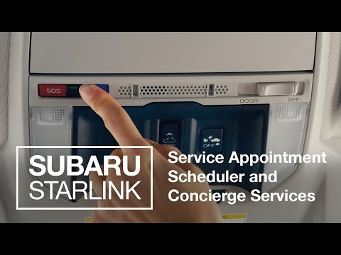 Concierge + Appointment Tech (2019 SUBARU STARLINK New Features)