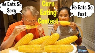 Filipina American Life In America Corn On The Cob Mukbang-Filipina American Eats Corn - Cooking Corn