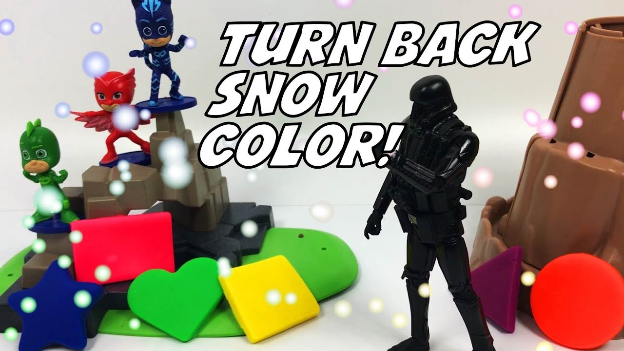 Learning with Toys Ep65 Oh my god!! He changed snow color!!!! Turn back to white color