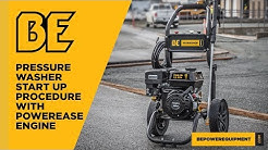 Powerease Engine Pressure Washer Start-Up