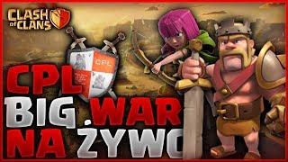 💥 CPL POLSKA LIGA CLASH OF CLANS 💥 BIG WAR 💥 1000 SUB - 300 zł #LIVE  Polska