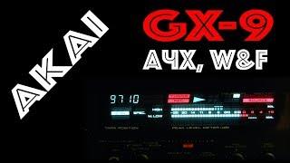 AKAI GX-9 - АЧХ, W&F 33 года спустя
